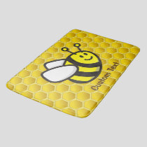 Honeybee Cartoon Bath Mat