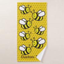 Honeybee Cartoon Bath Towel Set