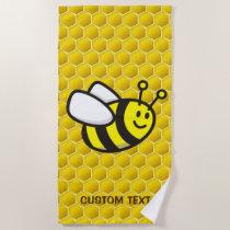 Honeybee Cartoon Beach Towel