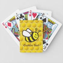 Honeybee Cartoon Bicycle Playing Cards