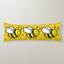 Honeybee Cartoon Body Pillow