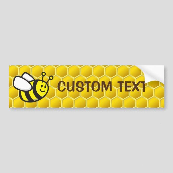 Honeybee Cartoon Bumper Sticker