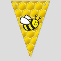 Honeybee Cartoon Bunting Flags