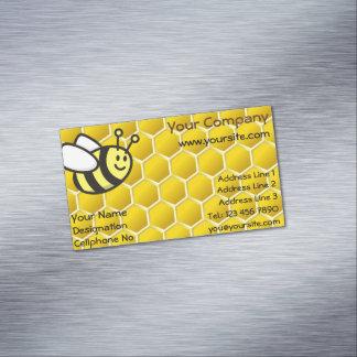Honeybee Cartoon Business Card Magnet
