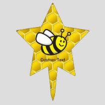 Honeybee Cartoon Cake Topper