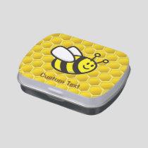 Honeybee cartoon candy tin