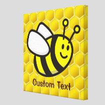 Honeybee Cartoon Canvas Print