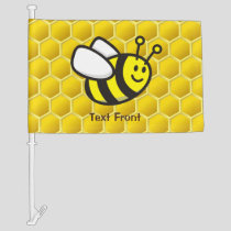 Honeybee Cartoon Car Flag