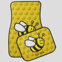 Honeybee Cartoon Car Floor Mat
