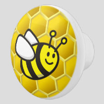 Honeybee Cartoon Ceramic Knob