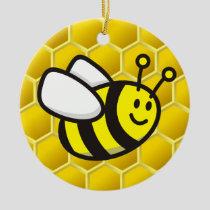 Honeybee cartoon ceramic ornament