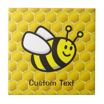 Honeybee Cartoon Ceramic Tile
