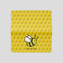 Honeybee Cartoon Checkbook Cover
