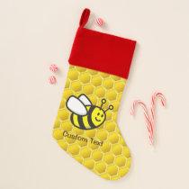 Honeybee Cartoon Christmas Stocking