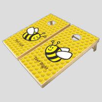 Honeybee Cartoon Cornhole Set