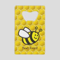 Honeybee Cartoon Credit Card Bottle Opener