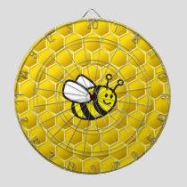 Honeybee Cartoon Dart Board