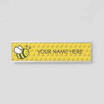 Honeybee Cartoon Door Sign