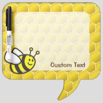 Honeybee Cartoon Dry Erase Board