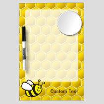 Honeybee Cartoon Dry Erase Board With Mirror