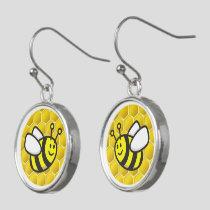Honeybee Cartoon Earrings