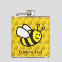 Honeybee cartoon flask