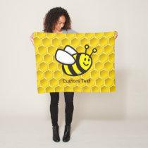Honeybee Cartoon Fleece Blanket