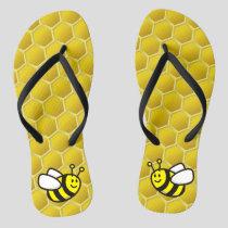 Honeybee Cartoon Flip Flops