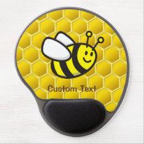 Honeybee cartoon gel mouse pad