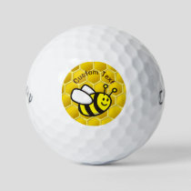 Honeybee Cartoon Golf Balls