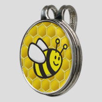 Honeybee Cartoon Golf Hat Clip