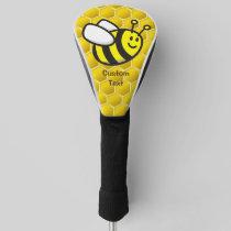 Honeybee Cartoon Golf Head Cover