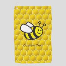 Honeybee Cartoon Golf Towel