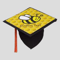 Honeybee Cartoon Graduation Cap Topper