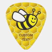 Honeybee Cartoon Guitar Pick