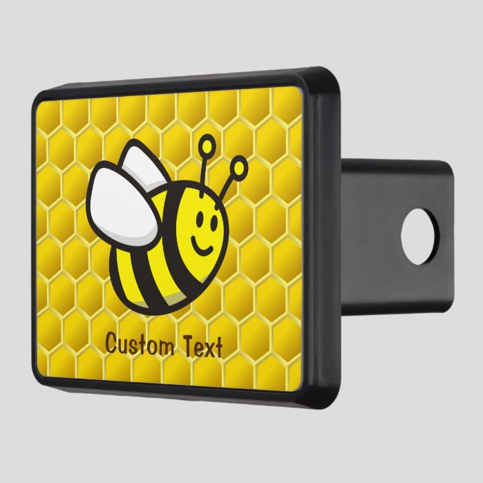 Honeybee cartoon hitch cover