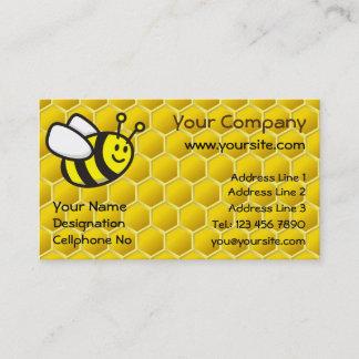 Honeybee Cartoon Horizontal Business Card