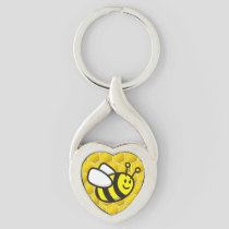 Honeybee Cartoon Keychain