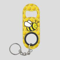 Honeybee Cartoon Keychain Bottle Opener