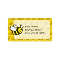 Honeybee Cartoon Label