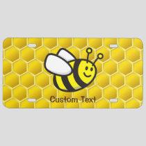 Honeybee Cartoon License Plate