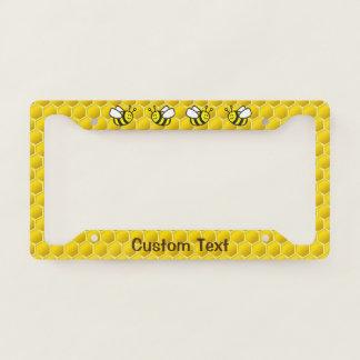 Honeybee Cartoon License Plate Frame