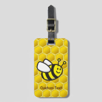 Honeybee Cartoon Luggage Tag