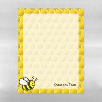 Honeybee Cartoon Magnetic Dry Erase Sheet