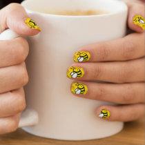 Honeybee Cartoon Minx Nail Art