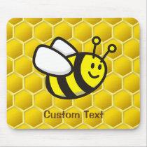 Honeybee cartoon mouse pad