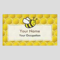 Honeybee Cartoon Name Tag