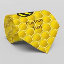 Honeybee Cartoon Neck Tie