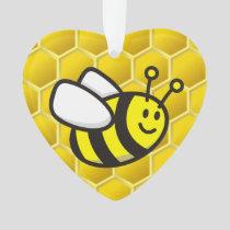 Honeybee cartoon ornament