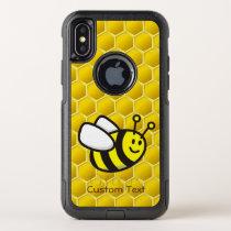 Honeybee cartoon OtterBox commuter iPhone XS case